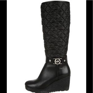 Michael Kors Quilted Boots 8 1/2